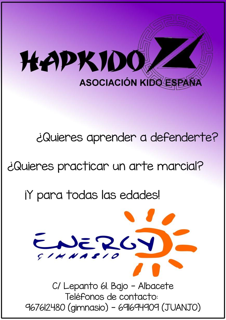 ANUNCIO HAPKIDO GIMNASIO ENERGY