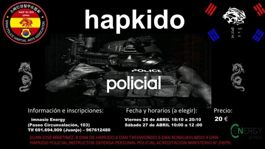 CARTEL HAPKIDO POLICIAL ABRIL 2019